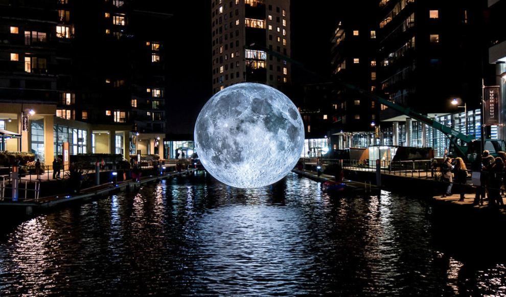 Luke Jerram's Museum of the Moon exhibit