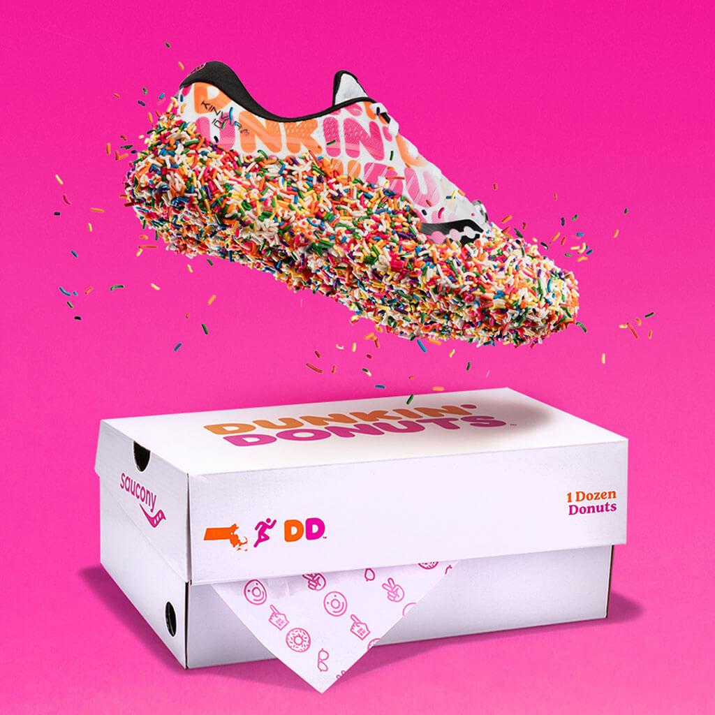 Saucony x Dunkin' Kinvara 10 donut-inspired sneakers