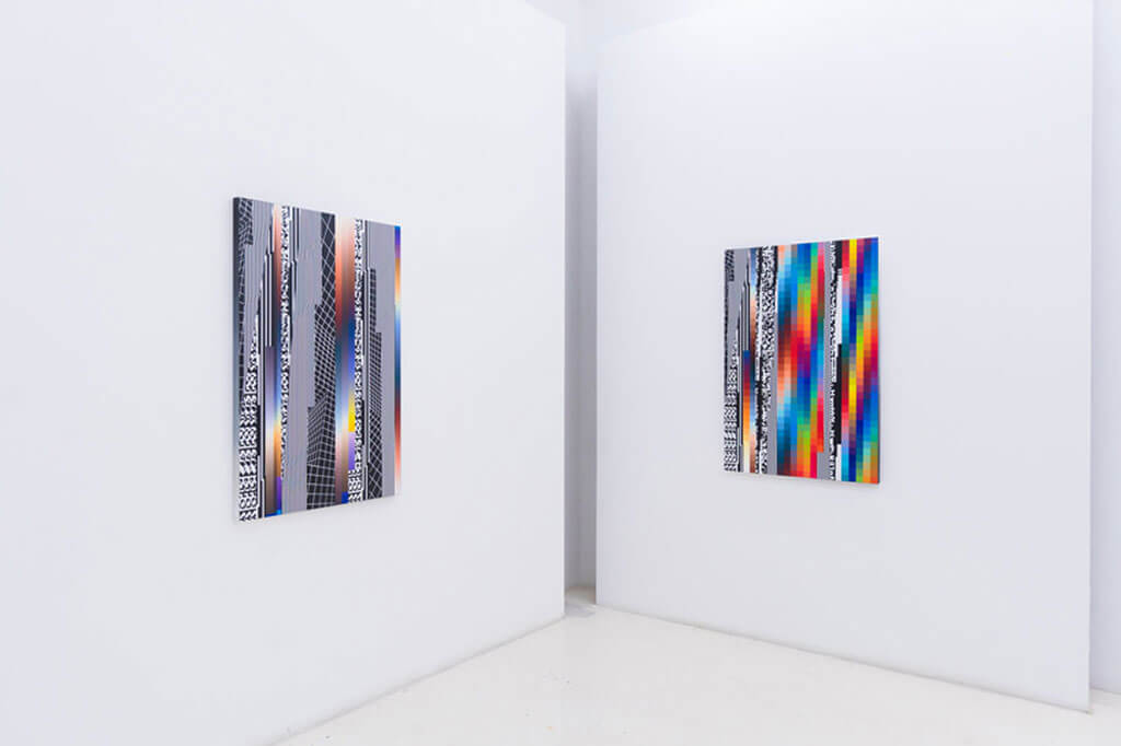8-bit graphics transformed into 3D sculptures and paintings by Felipe Pantone