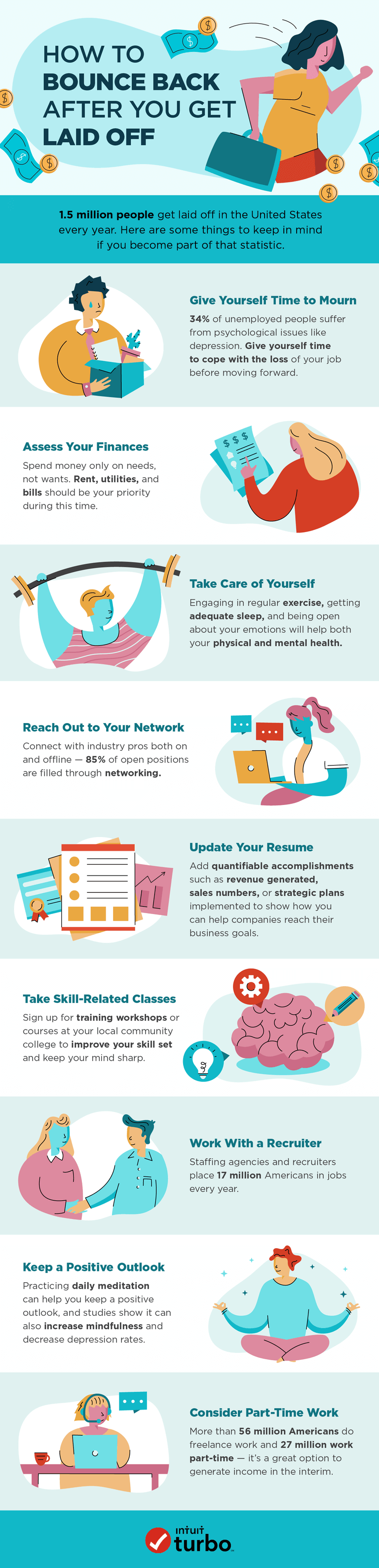 Infographic: How to bounce back after you get laid off