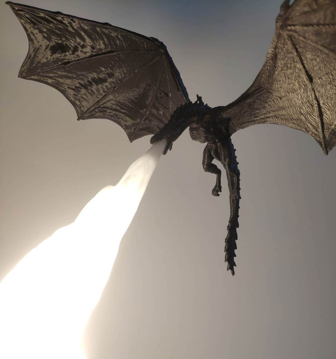 Game of Thrones-inspired fire-breathing dragon lamp