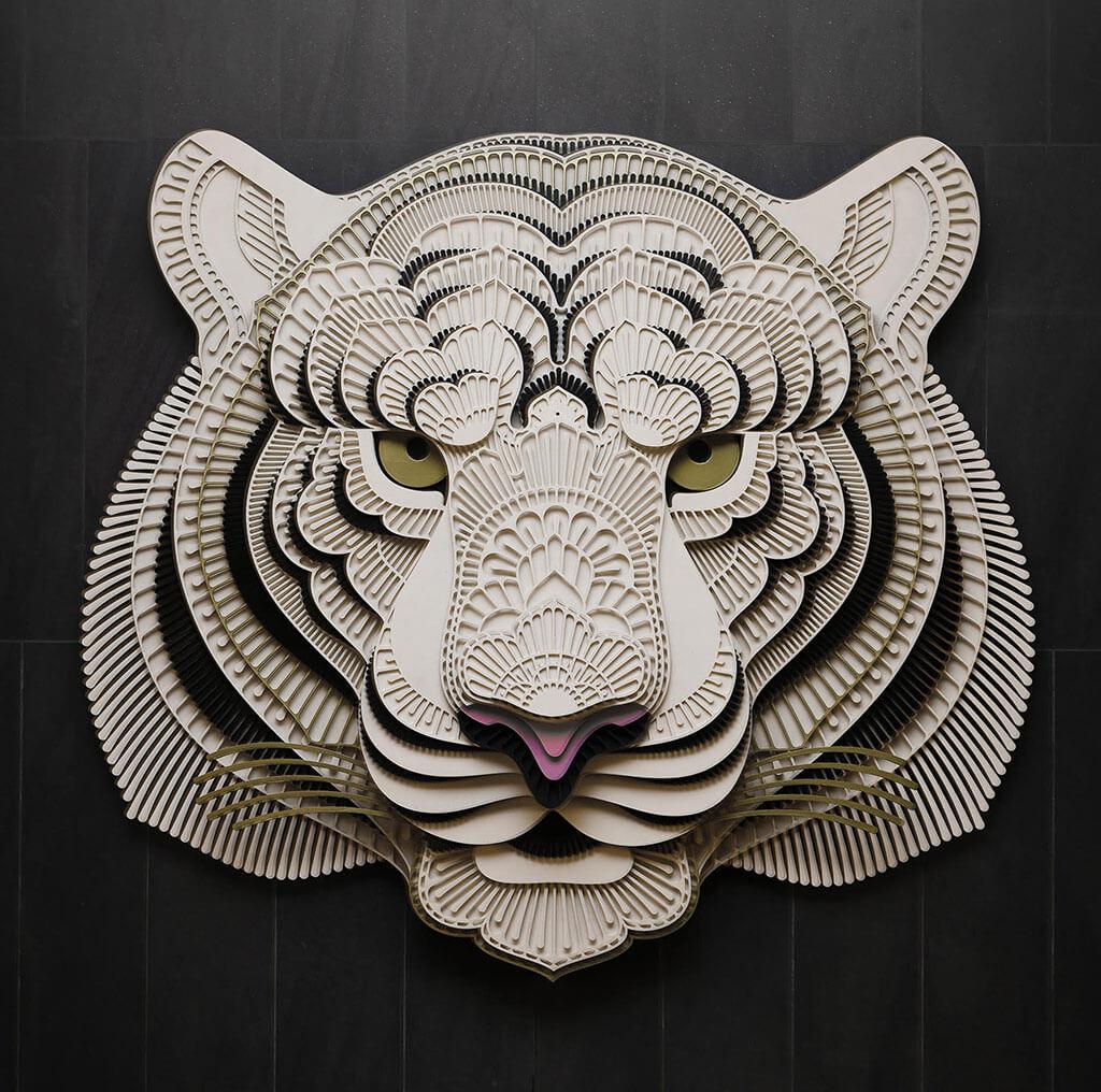 Tiger 3D animal sculpture