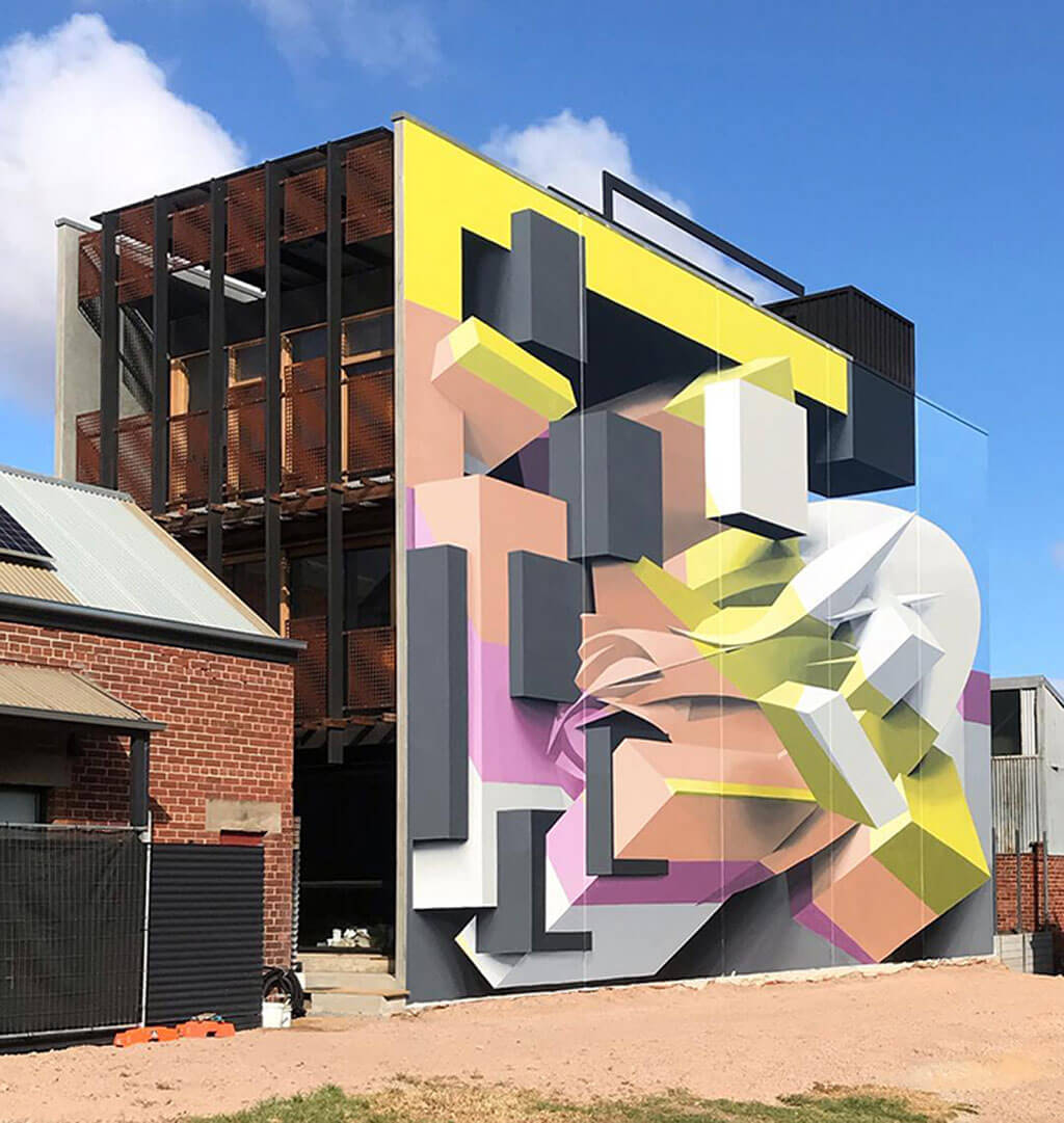 3D mural by Peeta