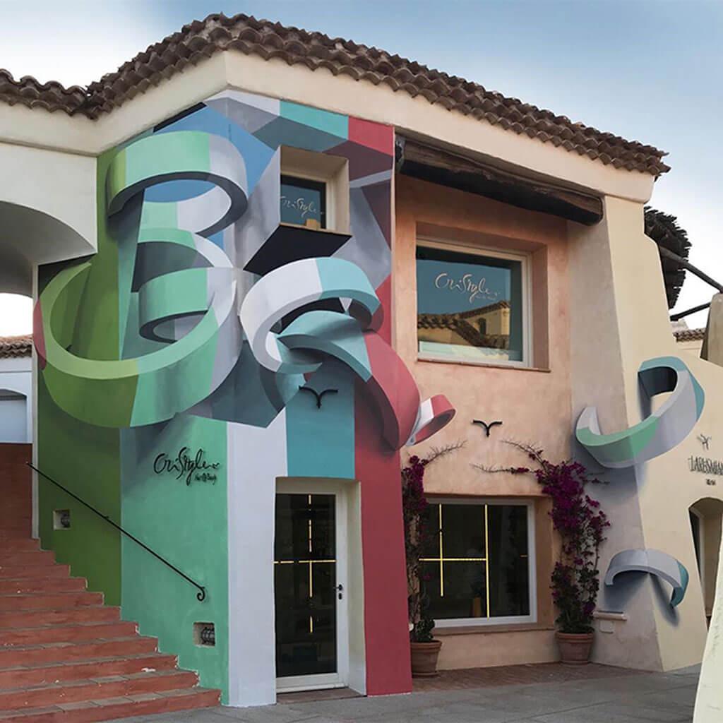 Surreal 3D graffiti