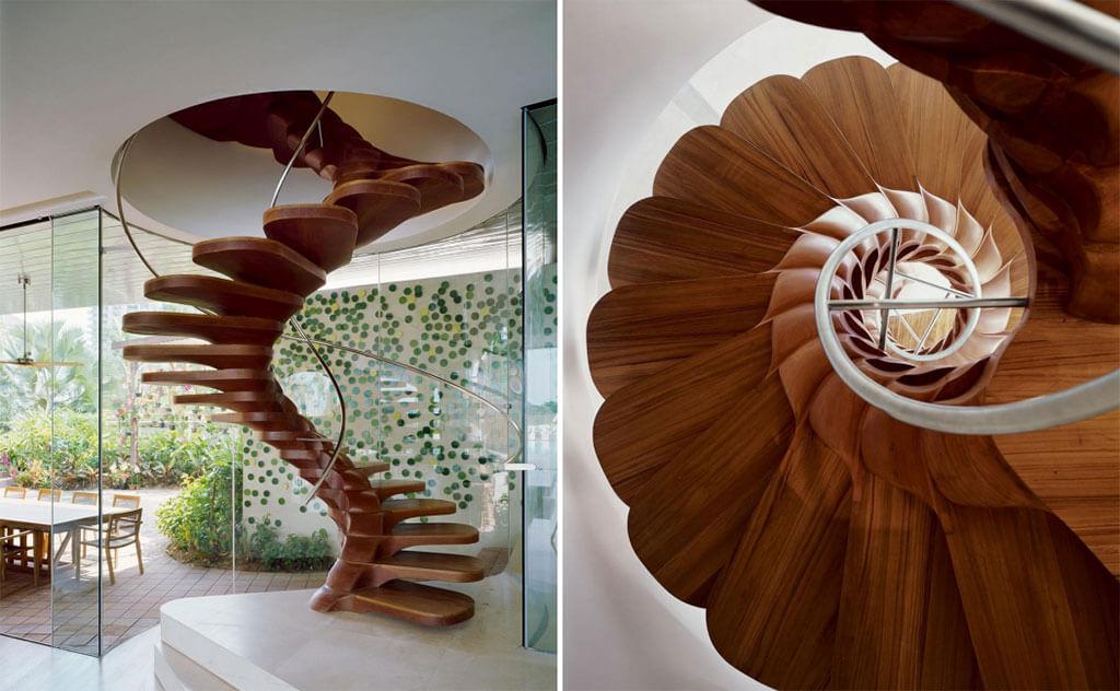 Modern wood spiral