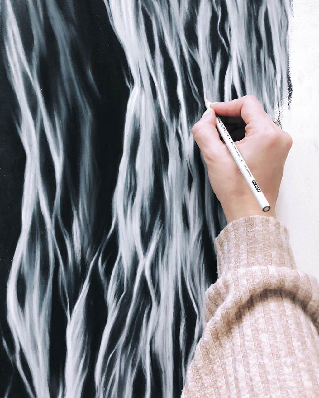 Hand-drawn ocean waves