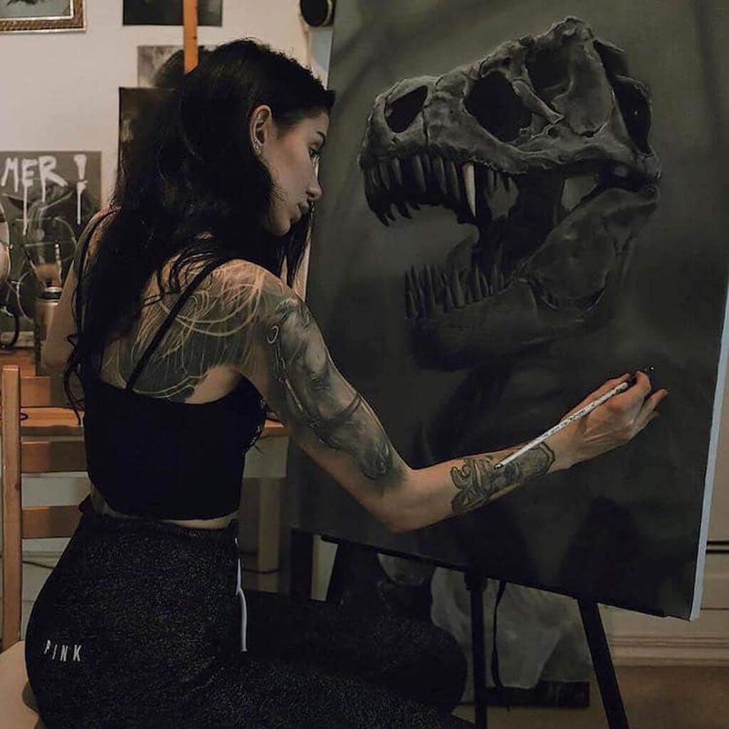 Katharina Barth oil paintings