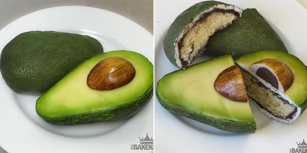 Avocado illusion cake
