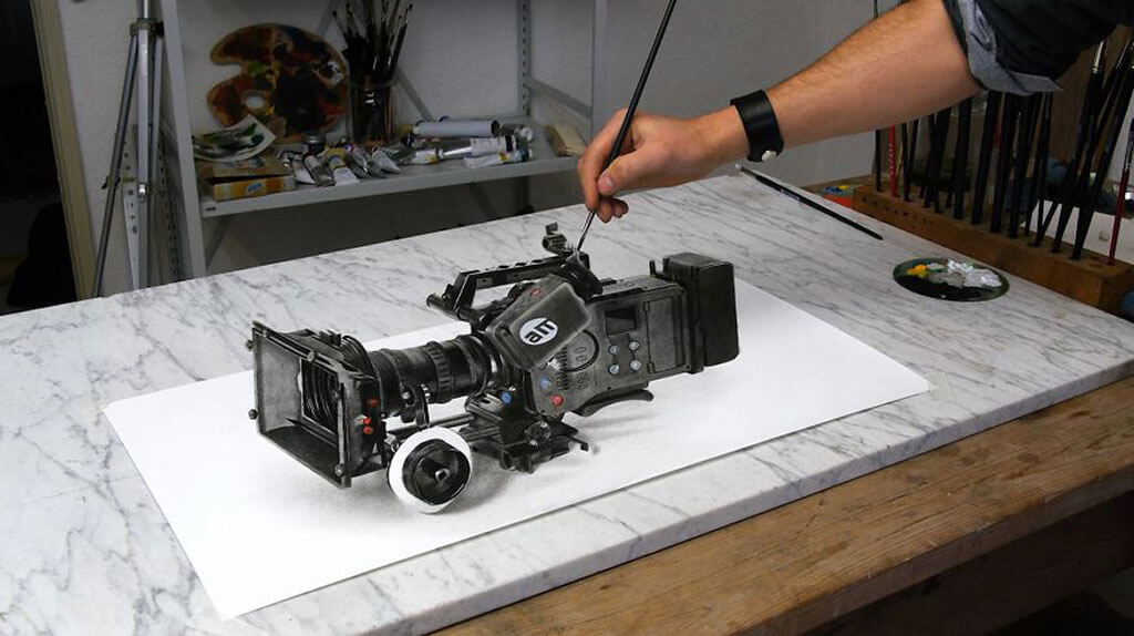 3D painting of a camera by Stefan Pabst