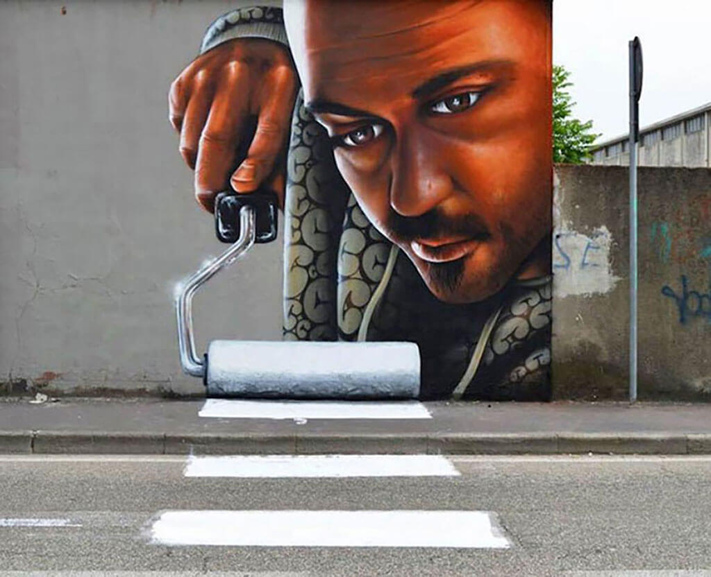 Stunning 3D street art comes alive