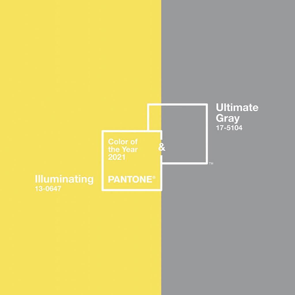 PANTONE Ultimate Gray & PANTONE Illuminating