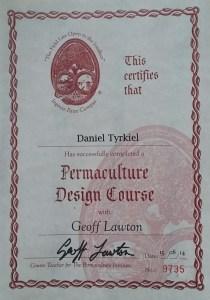 Daniel Tyrkiel Permaculture Designer