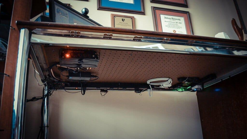 Home Office Desk Cable Management