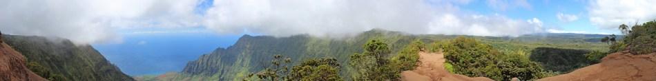 High above Kalalau Valley at Kokee national park, Kauai