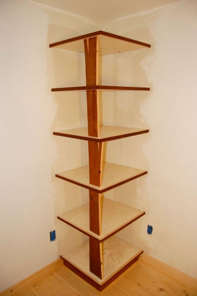 woodworking corner shelf plans