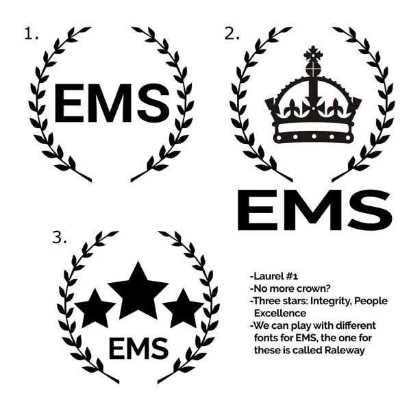 Laurels are fun, adobe graphic logo design.