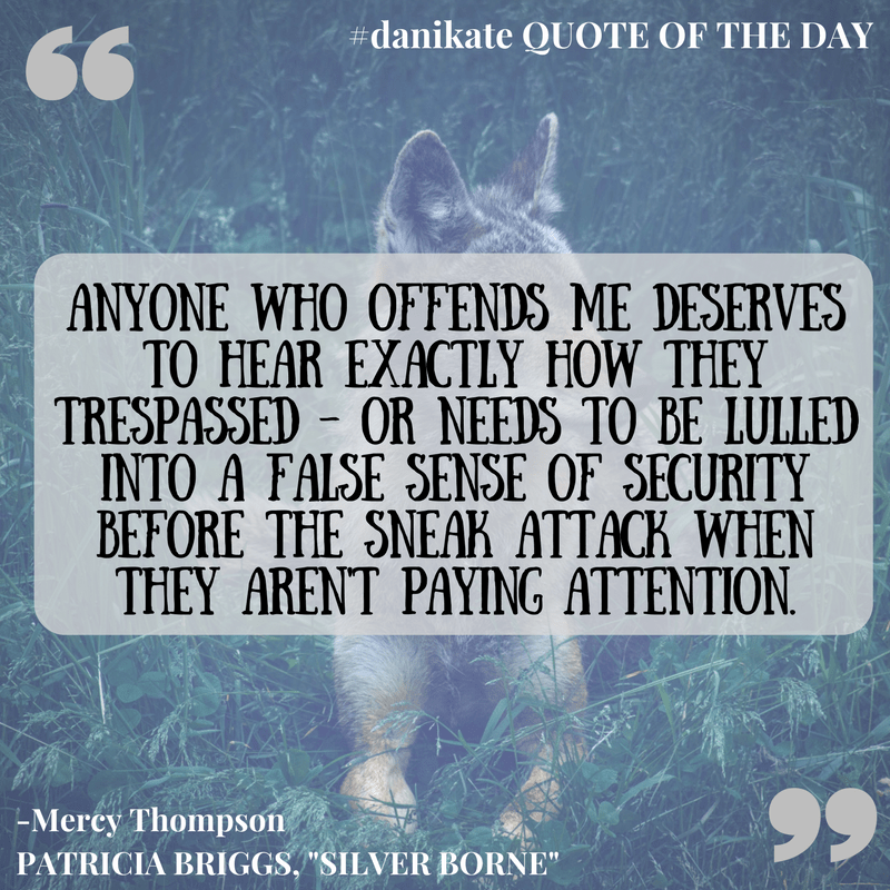 Qotd Mercy Thompson Is My Coyote Shifting Heroine Dani Kate