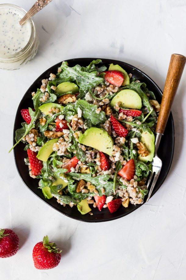 Strawberry Farro Salad