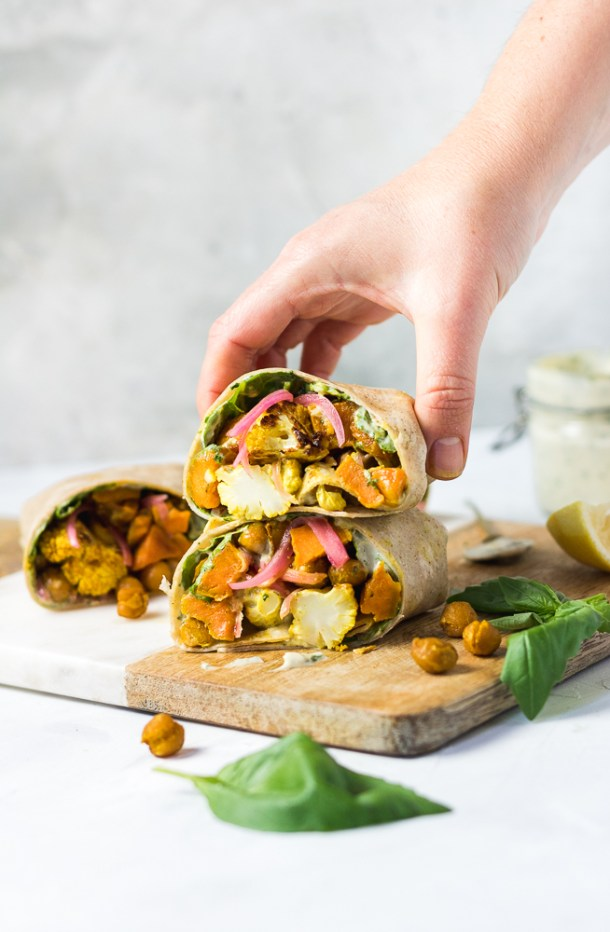 Curry Veggie Wrap-1-3