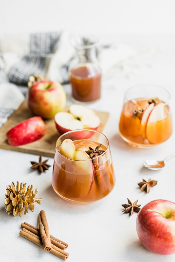 Apple cider Old Fashioned.