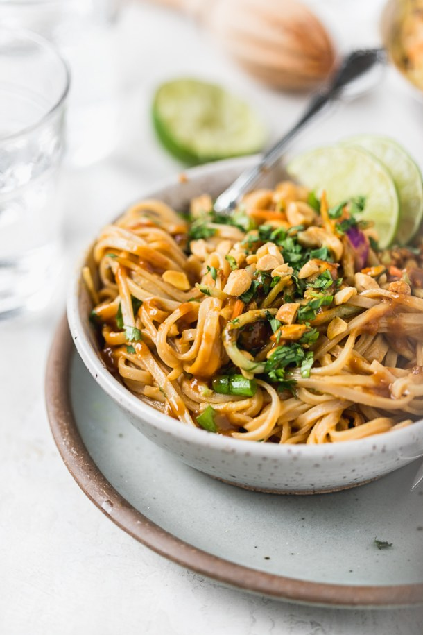 Easy and delicious healthy pad Thai.
