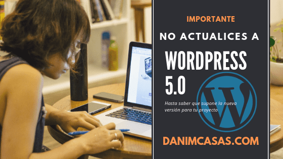 Portada entrada actualización WordPress 5.0