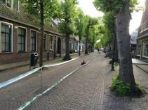 The main street in Langweer.