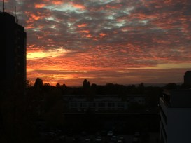 30/10 - A pretty epic sunset. The photo really doesn't give it justice.