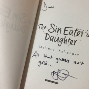 The Sin Eater's Daughter signed by Melinda Salisbury