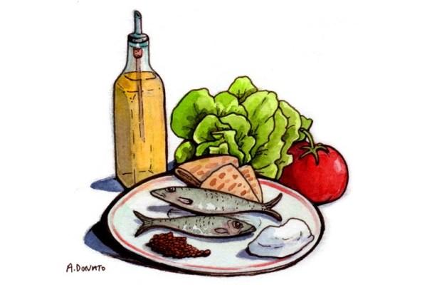 Dieta mediterranea para la longevidad