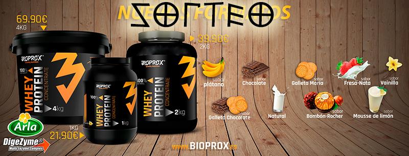 SORTEO de proteinas whey bioprox CUBO de 4kg sabores