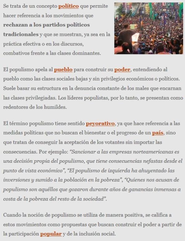 VOX es un partido populista o usa el populismo