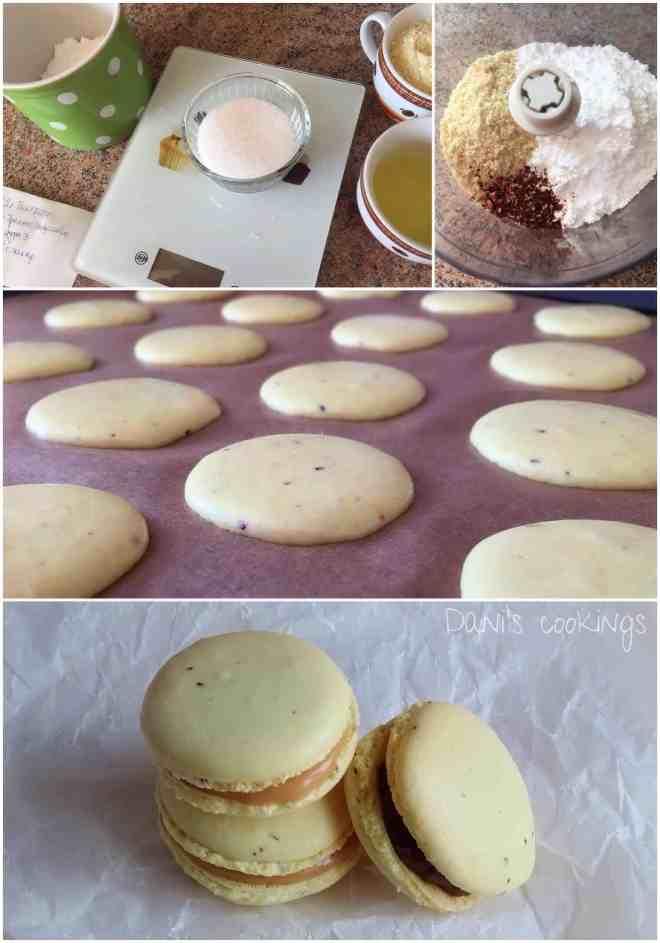 lemon macarons with chocolate & caramel fillings | daniscookings.wordpress.com
