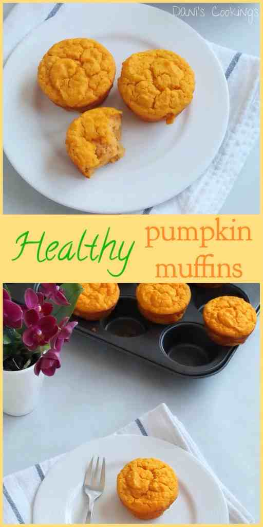 healthy pumpkin, ricotta and quinoa muffins - daniscookings.com