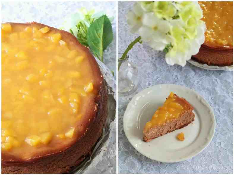 Chocolate Cheesecake with Mango Topping - daniscookings.com