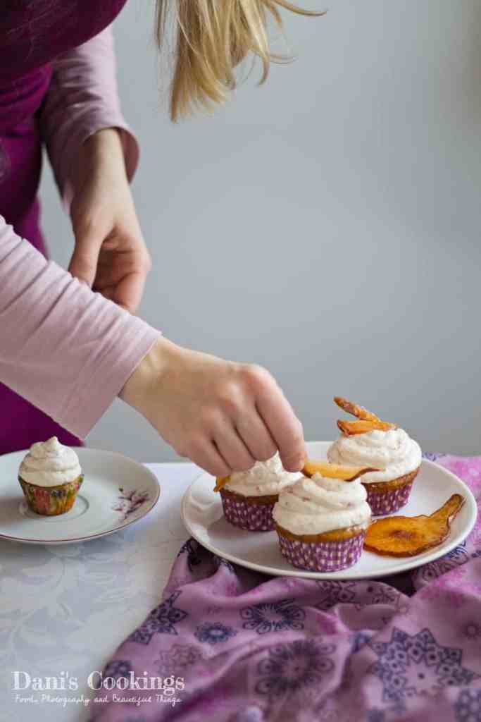 Delicious Cider Cupcakes with Pear Frosting | Dani's Cookings