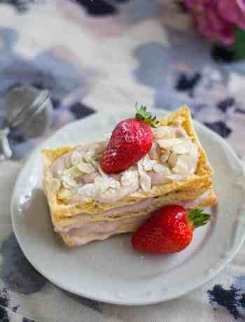 Strawberry Almond Millefeuille | Dani's Cookings