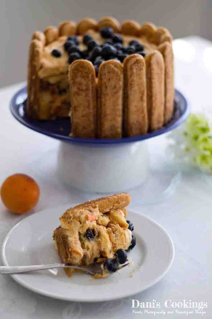 Apricot Tiramisu with Blueberries | Dani's Cookings