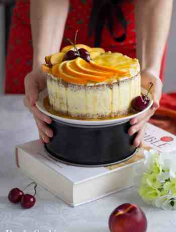 Orange Cake with Peach Buttercream Frosting | Dani's Cookings