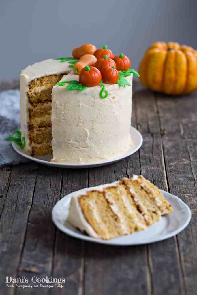 Pumpkin Layer Cake with Mascarpone Frosting | Dani's Cookings