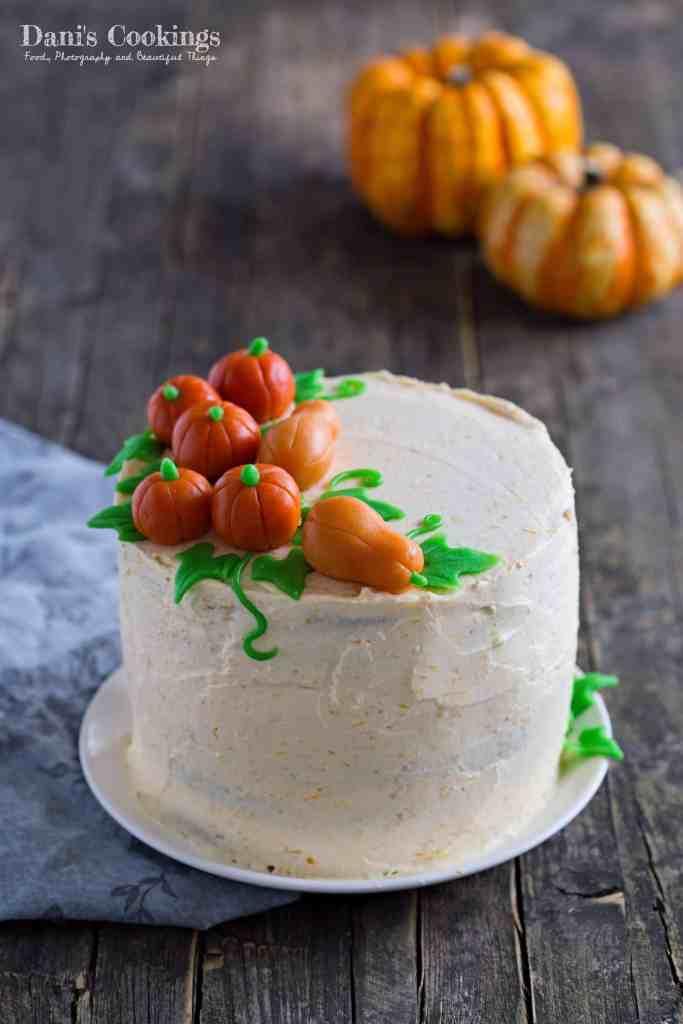 Pumpkin Layer Cake With Mascarpone Frosting