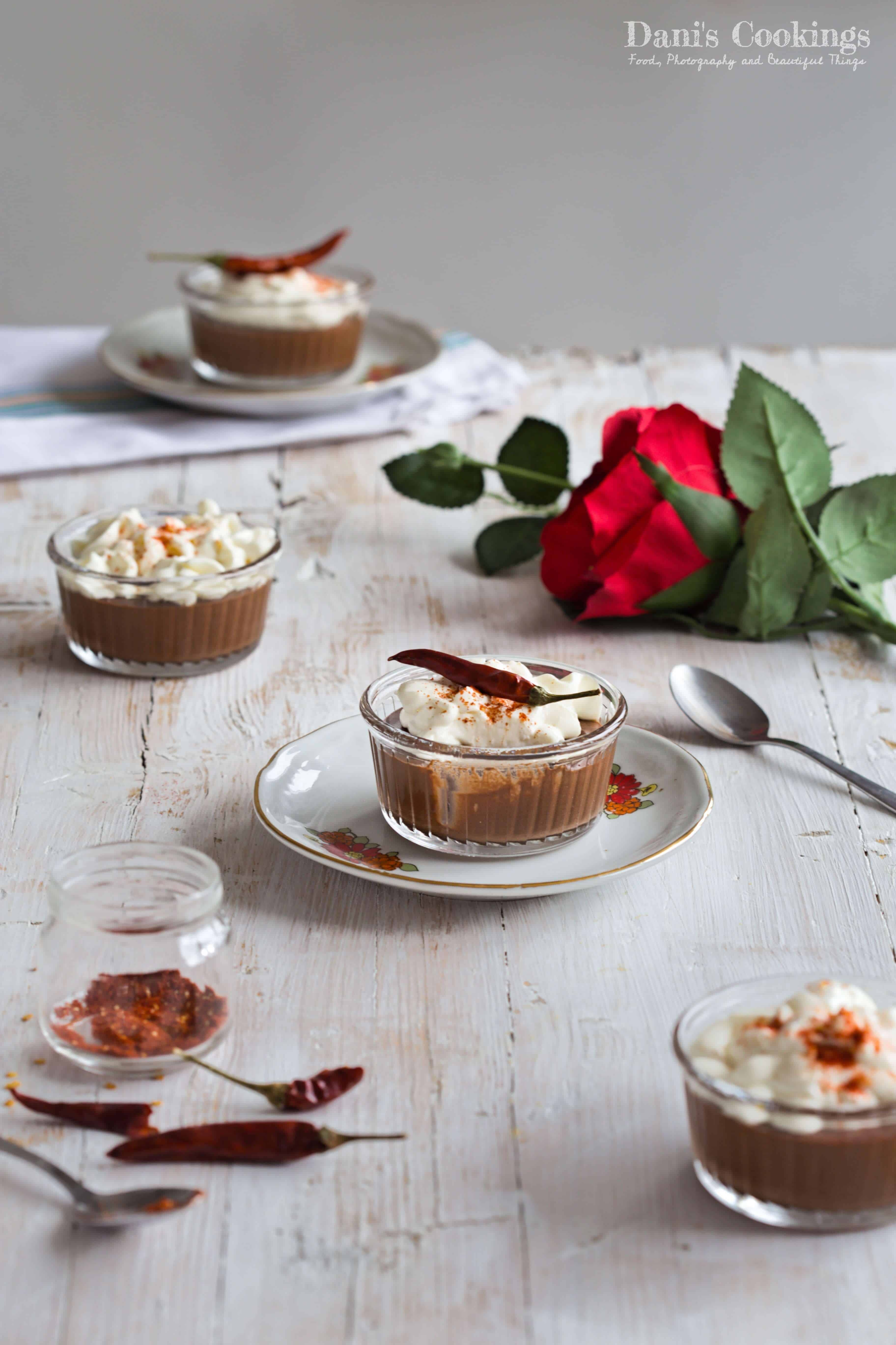 Spicy Chocolate Mousse With Sour Cream Garnish Dani S Cookings