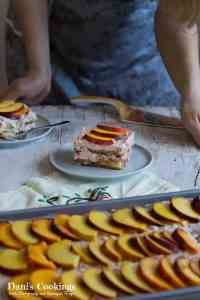 Peach Raspberry Tiramisu