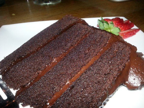 House made chocolate cake