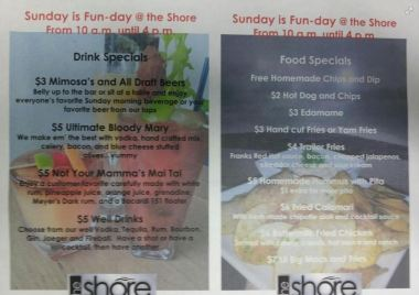 The Shore Sunday Specials