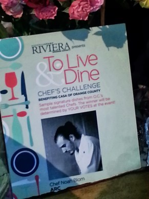 Riviera Magazine to live and dine chef challenge