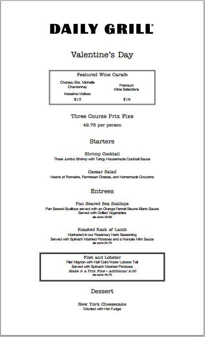 Valentines Day Restaurant Meals and Deals 2014  Part 1