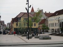 Plaza in Aalborg, near the Limfjord Restaurant