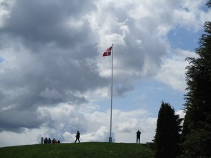 Flag on Thyras Mound, Jelling