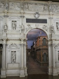 The amazing perspective backdrop of the Teatro Olimpico, Vicenza